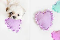 DIY: No Sew Heart Dog Toy   Pretty Fluffy   Pretty Fluffy