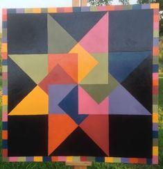 Barn Quilt. Pinwheel 36 x 36