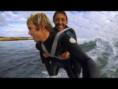 One of the most inspirational things I've ever seen. Amazing what caring and creativity can accomplish! Duct Tape Surfing - Dream came true for Paraplegic Mum