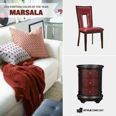 #marsala #coloroftheyear #2015 #diseño #design #colordelaño #arquitectura #interiores #architecture #mobiliario #furniture