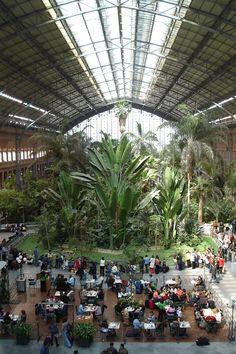 Atocha Train Station extension. Rafael Moneo. Madrid, Spain