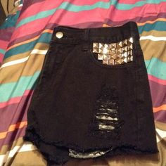 Forever 21 Distressed Shorts w/ Studs Like new Forever 21 Shorts Jean Shorts