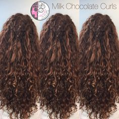 Chocolate balayage on naturally curly hair by Carleen Sanchez Nevada's Curl Expert www.haircutcolor.com 775.721.2969