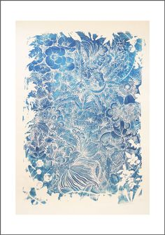 Lucille Clerc, Flowers cyanotype #LucilleClerc #Slowgalerie #nature #pattern