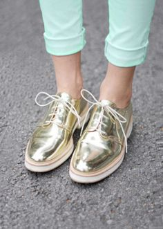metallic stylish shoes