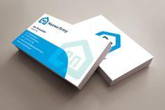 szablon wizytówki Blue House Container, Blue