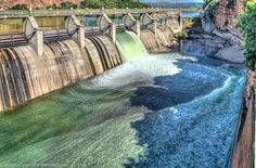 Sluice gates open up by alexiusvanderwesthuizen The sluice gates at Hartbeespoortdam in South Africa open up to lower the level of the dam after high levels of rainfall. High Level, Open Up, North West, Niagara Falls, Gates, Amazing, Awesome, South Africa, Waterfall