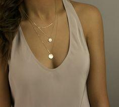 Gold Layered Necklaces Set / Set of 3 Layered by LayeredAndLong
