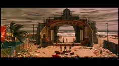 "baz luhrmann romeo and juliet beach - Mercutio's death scene ""A plague on both your houses!!"""