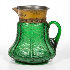 BOHEMIAN LOETZ CRETE CHINE GLASS PITCHER