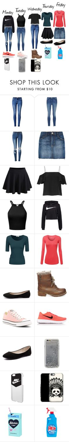 """""""Different Types"""" by malaysiasmith21 on Polyvore featuring WithChic, Frame, Fendi, NIKE, Doublju, Verali, Steve Madden, Converse, Agent 18 and Moschino"""