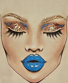 Mac Makeup, Makeup Geek, Makeup Inspo, Makeup Inspiration, Makeup Tips, Maquillage Halloween, Halloween Makeup, Facechart Mac, Facechart Makeup
