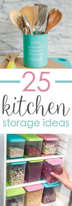 Kitchen Storage: Smart storage ideas to declutter and organize your kitchen. Clear the countertops and prep your pantry with these awesome tools for kitchen storage to organize your space. Diy Kitchen Storage, Smart Storage, Kitchen Hacks, Kitchen Organization, Storage Organization, Storage Ideas, Organized Kitchen, Diy Kitchens, Kitchen Stuff