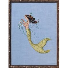 Tesoro Mia La Petite Mermaid Collection - Fiche point de croix - Nora Corbett