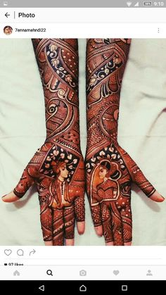 Henna design Wedding Mehndi Designs, Wedding Henna, Dulhan Mehndi Designs, Henna Mehndi, Mehendi, Henna Art, Mehndi Design Pictures, Mehndi Images, Mehandhi Designs