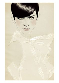Fashion Illustration: Sandra Suy | .Love at First Blush.