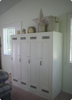 refabbed wood lockers