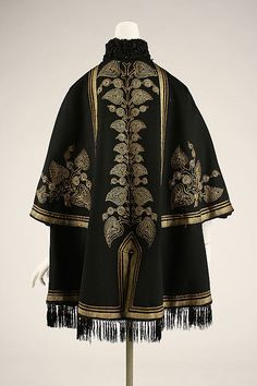 Date:     1863–67 Culture:     European, Eastern Medium:     wool, silk, metallic thread, fur Dimensions:     Length at CB: 35 in. (88.9 cm) Credit Line:     Gift of Virginia S. Mayor, 1976