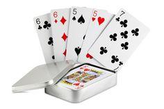 Juego de cartas caja metal AMIGO