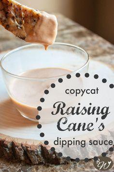 Raising Cane's Sauce: Copycat Recipe {the rustic willow} Sauce Recipes, Cooking Recipes, Copykat Recipes, Fondue Recipes, Cooking Food, Dip Recipes, Pasta Recipes, Vegetarian Recipes, Dessert