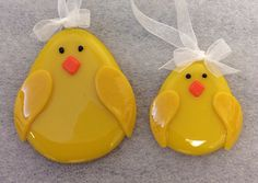 Fused Glass (Tack Fused) Large and Small Chicks.
