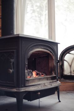 wood stove fire place