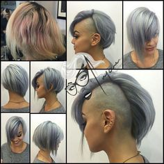 Hair And Beauty Preston Mohawk Hairstyles For Women, Undercut Hairstyles, Cool Hairstyles, One Side Shaved Hairstyles, Girl Mohawk, Long Mohawk, Short Hair Cuts, Short Hair Styles, Half Shaved Hair