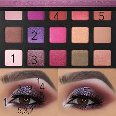 Makeup Eye Looks, Eye Makeup, Makeup Geek, Makeup Addict, Lila Palette, Makeup Step By Step, Makeup Obsession, Playing Dress Up, Face And Body