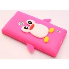 Lumia 520 hot pink pingviini silikonisuojus. Nokia Lumia 520, Sunglasses Case, Hot Pink
