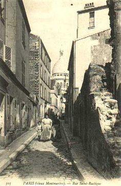 Rue Saint Rustique. Montmartre. Paris , ca. 1900