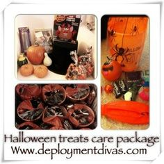 Deployment package ideas for our heros in the military! Halloween Care Package