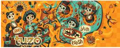 Mexican Burrito Bar Mural by Steve Simpson, via Behance