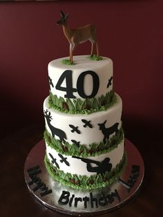 Hunting 40th Birthday Cake
