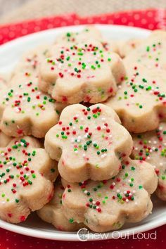 These Buttery Shortbread Cookies are easily made with 3 ingredients. They are out of this world amazing! Melt-in-your-mouth buttery goodness.