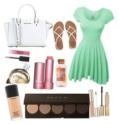 """""""Beautiful OUTFIT ❤️️"""" by julyjuly23 on Polyvore featuring moda, Billabong, LE3NO, MICHAEL Michael Kors, MAC Cosmetics, Chanel, Fresh, Stila y Maybelline"""