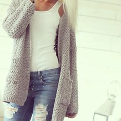 My light primark jeans with my selected wolly cardi AMC