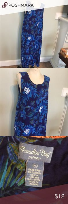 Paradise Bay Tropical Dress Casual Nice lite & Airy Tropical dress by Paradise Bay ,Sz L Petites.100% rayon. Nice condition/Has been washed & worn a few times. paradise bay Dresses Maxi