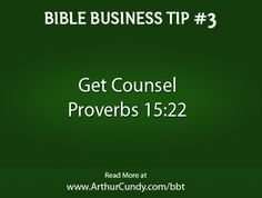 Bible Business Tip #3: Get Counsel
