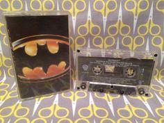 Vintage Cassette Tape  - Batman Original Soundtrack 1989 Michael Keaton Jack Nicholson Prince Danny Elfman