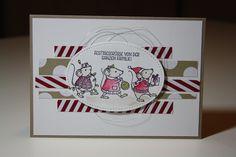 Karte mit Mäusen aus dem Stempelset Festtagsmäuse von Stampin'Up!