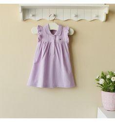 Mom and Bab Pique Dress - Purple - sadinashop.com  Gaun atau dress cantik berbahan lacoste atau polo untuk bayi dan anak perempuan.