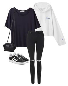 """""""Untitled #700"""" by petitaprenent on Polyvore featuring Acne Studios, Topshop, Yves Saint Laurent and adidas Originals"""