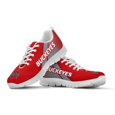 Running Shoes:Lightweight construction with breathable mesh fabric for maximum comfort and performance. Buckeyes Football, Ohio State Football, Ohio State University, Ohio State Buckeyes, Ohio State Shoes, Ohio State Baby, First Down, Football Shoes, Running Shoes