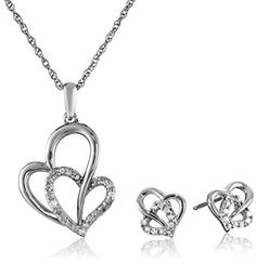 BESTSELLER! Sterling Silver Diamond-Accented Doub... $82.65