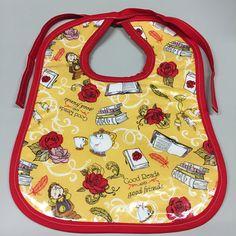 Wipeable Baby Bibs Tea Pots Clocks Candelabra Belle Books