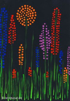 Spring meadow dot painting - Spring meadow dot painting Informations About Frühlingswiese Dotpainting Pin You can easily use my - Spring Art Projects, Spring Crafts, Classe D'art, Kindergarten Art, Preschool Art, Dot Painting, Cardboard Painting, Art Classroom, Summer Art