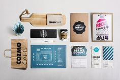COZMO Café / #Branding by Wondereight , via Behance #identity