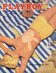 Janet Pilgrim on the cover of Playboy, July 1955.