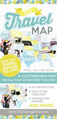 I've always wanted to make one of these travel maps! I love how you can add photos and mark it with cute flags! www.TheDatingDivas.com