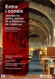 Per Sant Jordi, portes obertes i activitats a la Biblioteca de Catalunya (23 d'abril de 2015)